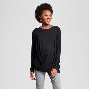 NEW! Maternity Draped Front Long Sleeve Top Soft